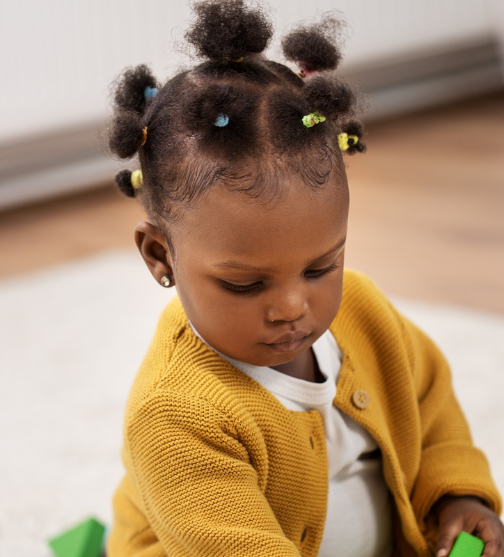 curly hairstyle for black toddler girl