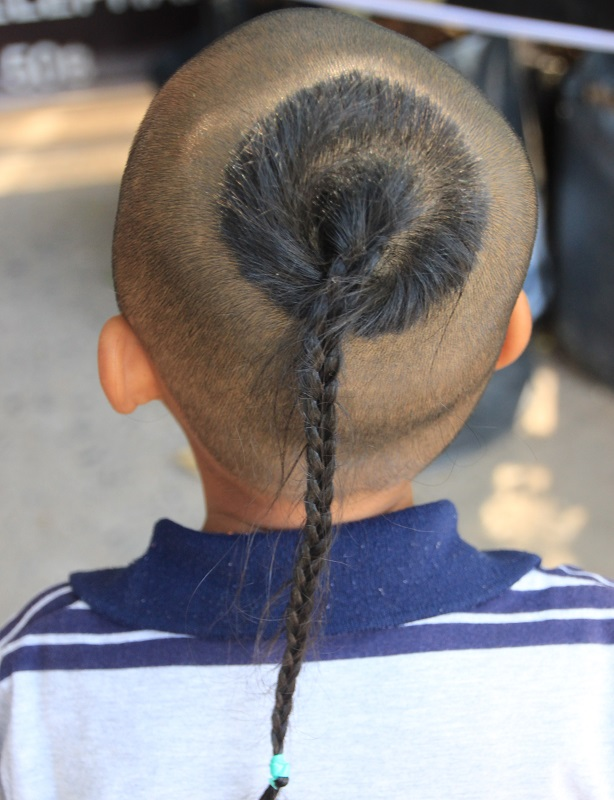 single braid for little boy