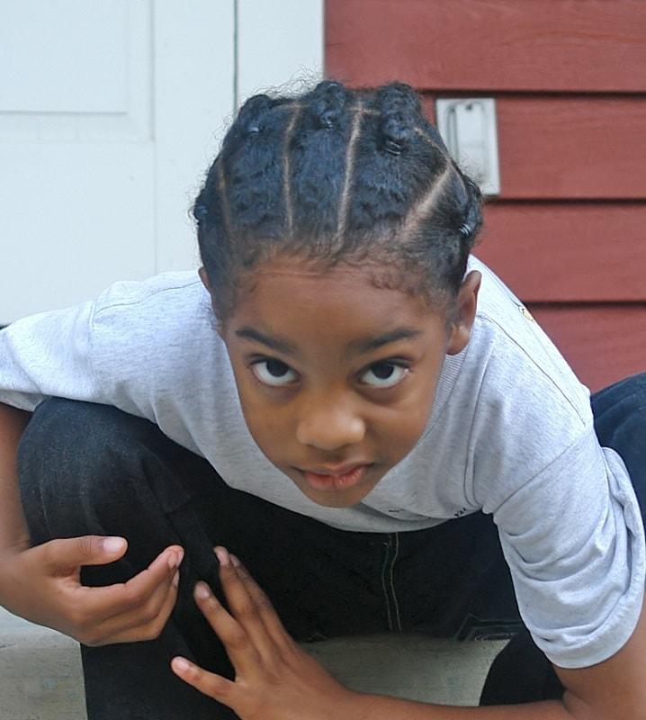 little boy's braids