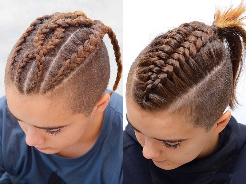 little boy's mohawk braids