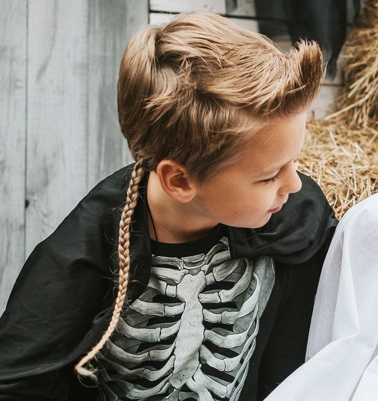 little boy's rattail braids