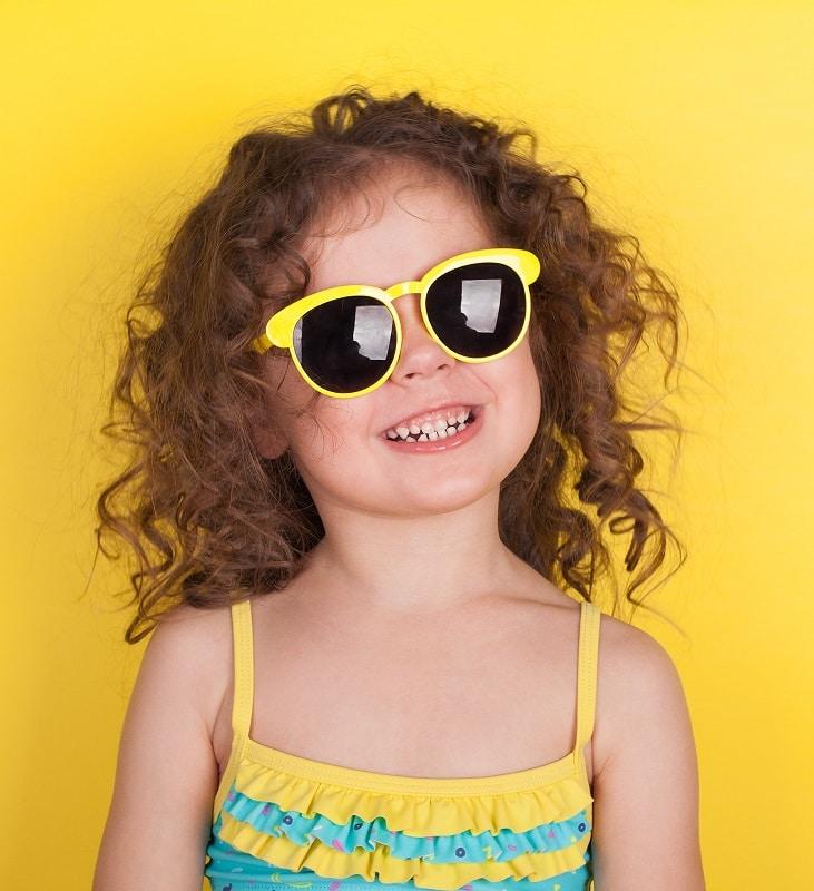 toddler girl's long curly hair