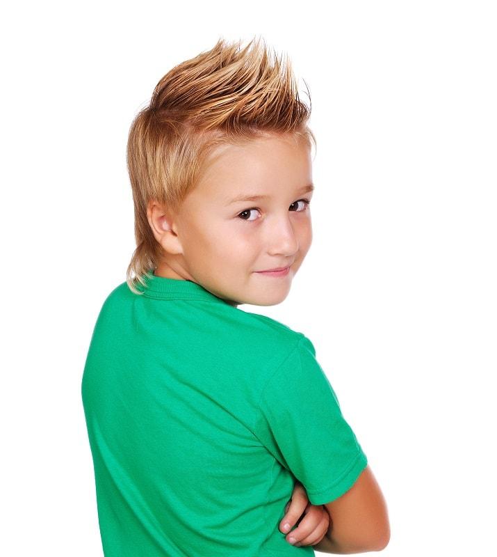 9 year old boy with fohawk