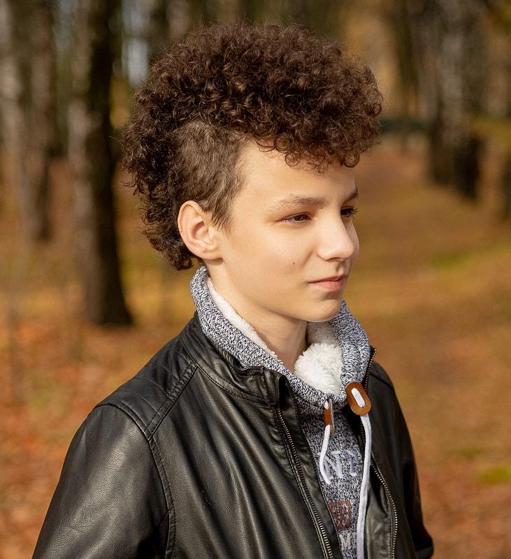 9 year old boy's mohawk haircut