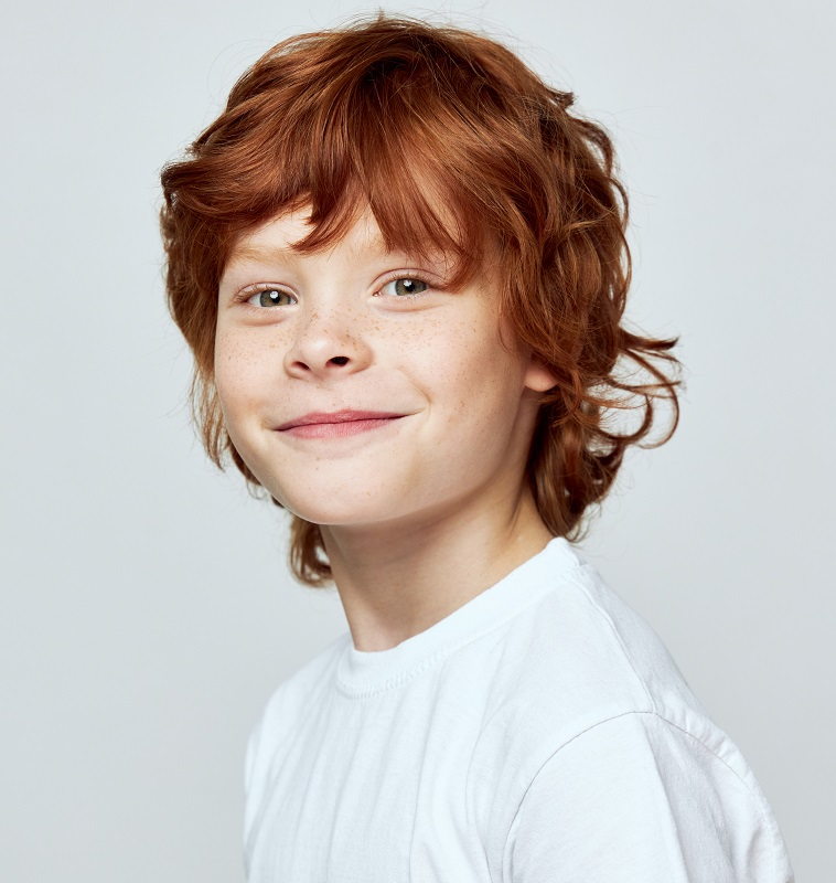 9 year old boy's mullet haircut