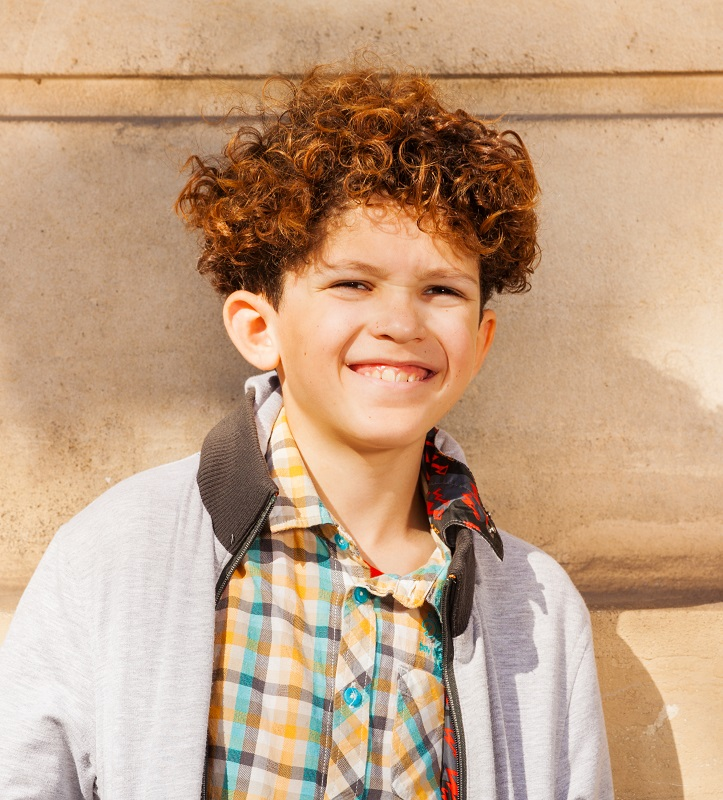 curly haircut for 9 year old boys