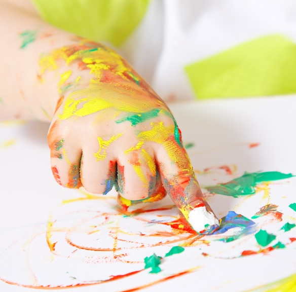 cute finger painting ideas for kids