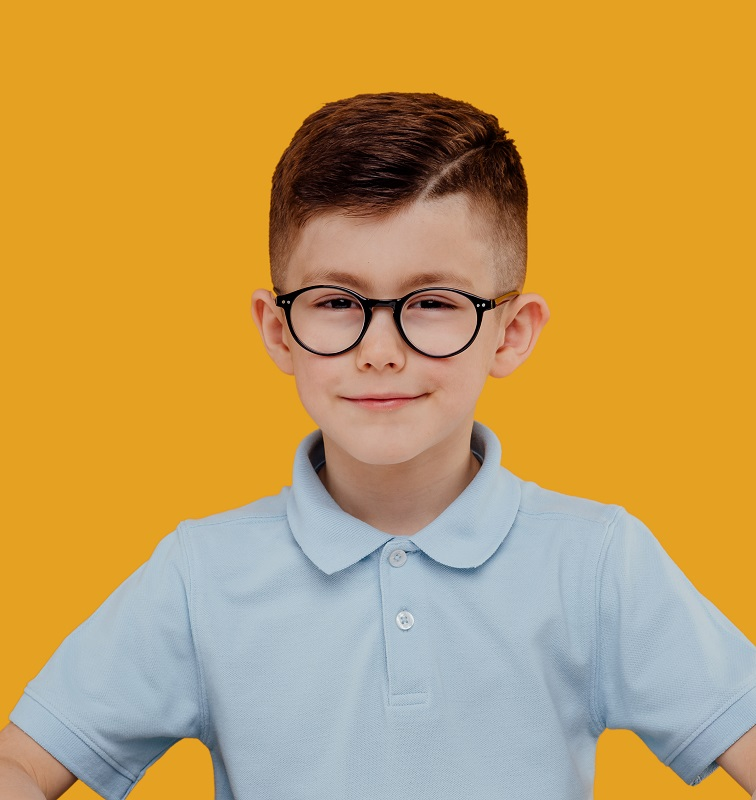 haircut for 9 year old boys with glasses