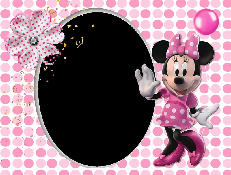 Waving Minnie Printable for Birthday Party