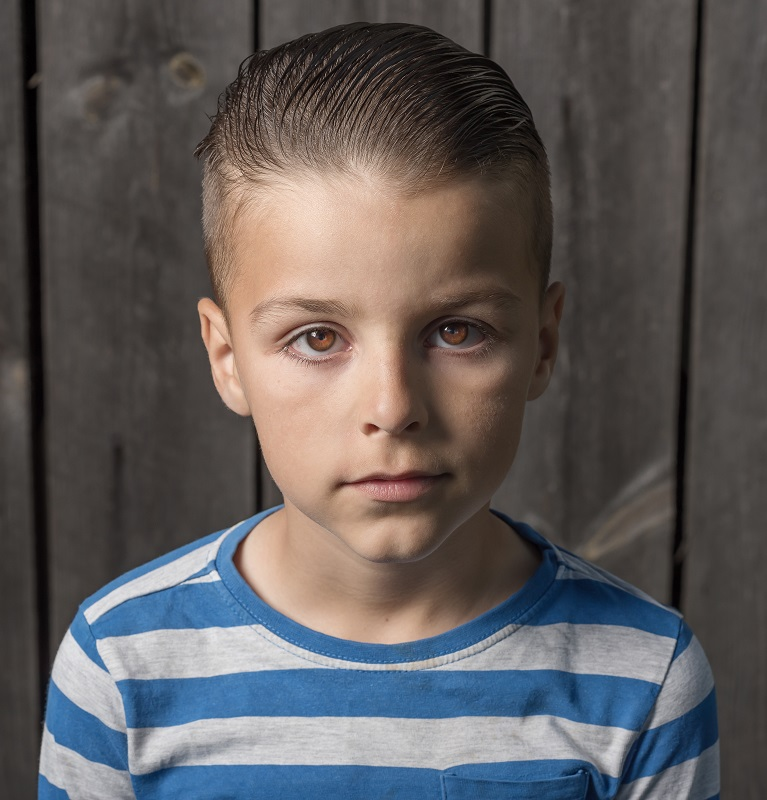 slick back hairstyle for 9 year old boys