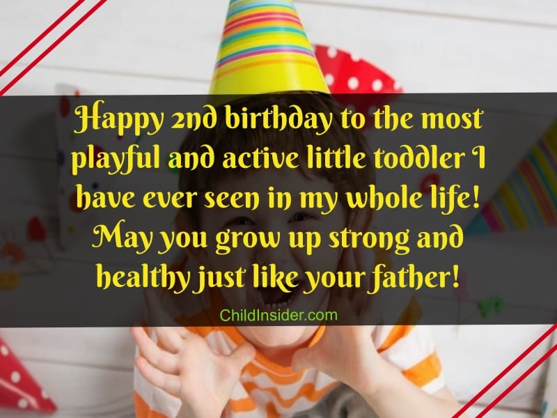 wishes for baby boy's 2nd birthday
