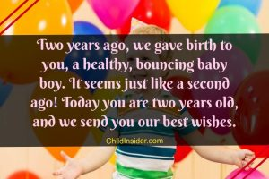 2nd birthday wishes for baby boy