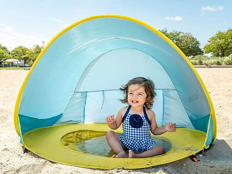 beach essentials for babies - baby tent