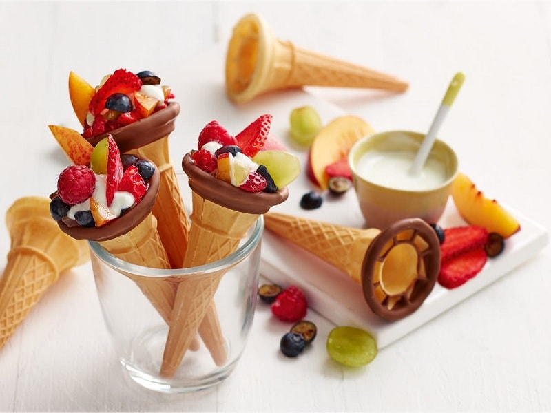 Fruit Cones for kids party