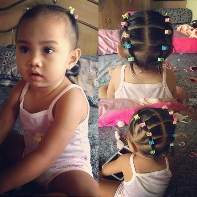 baby girl hairstyles with clips