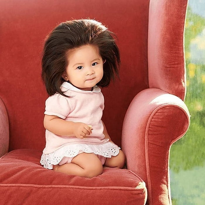 Asian baby girl hairstyle