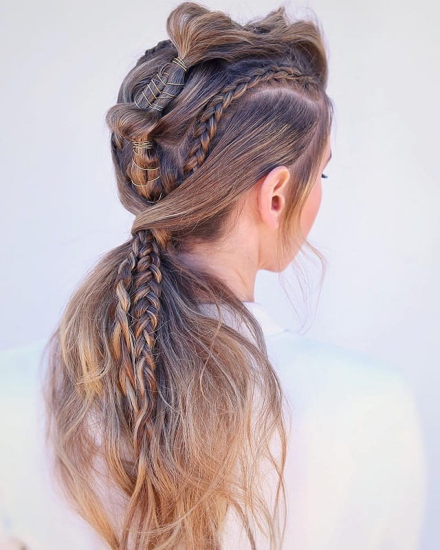 braids with ponytail styles for girls