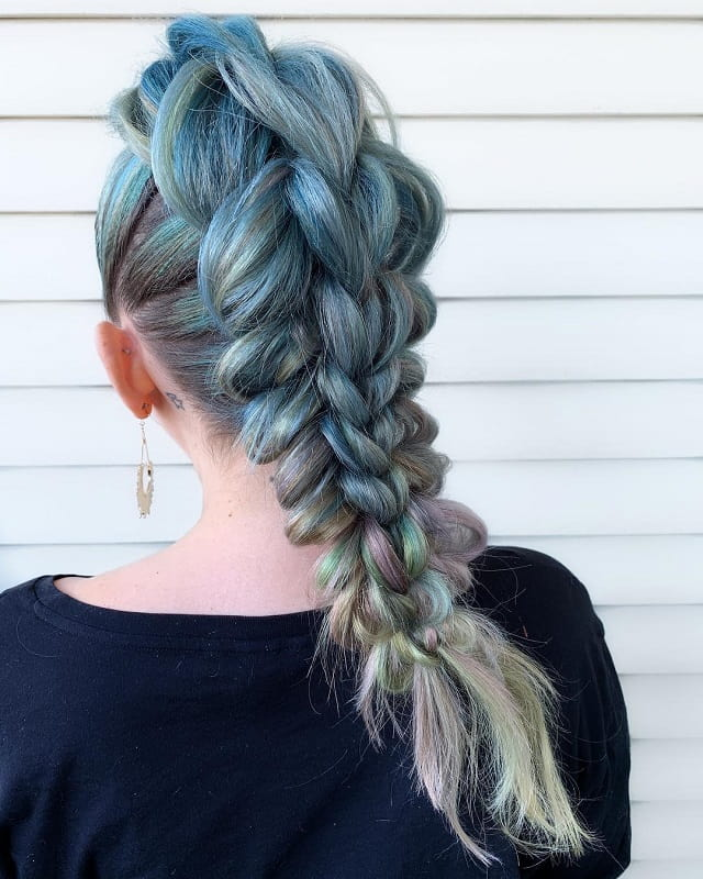 mermaid braided hairstyles for girls