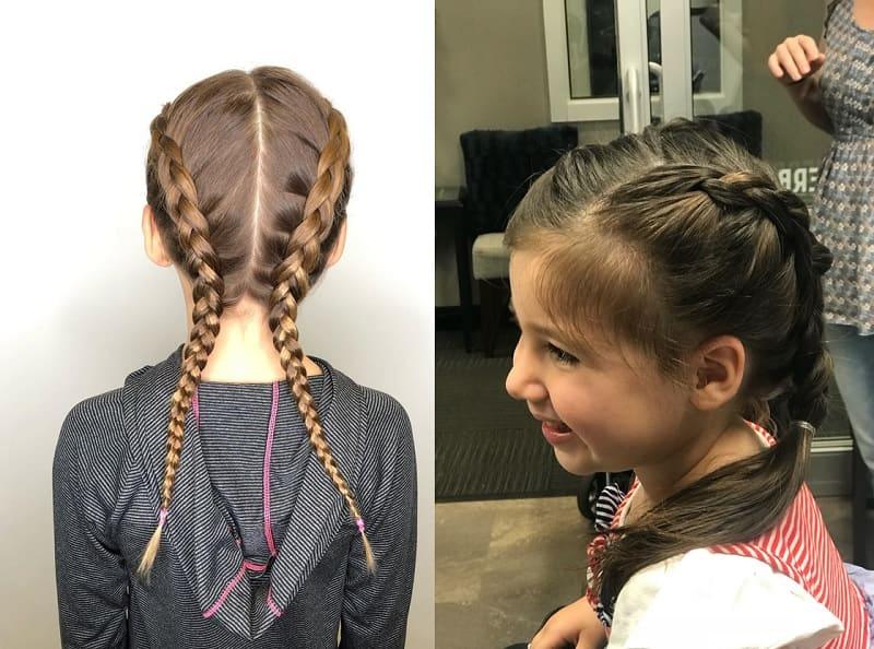 dutch braid styles for little girls