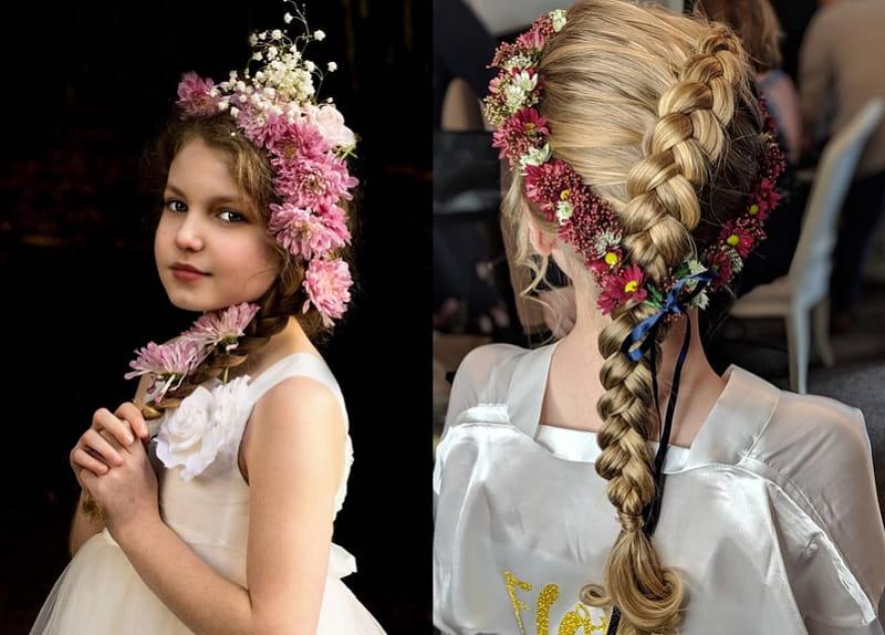 braid hairstyles for flower girls