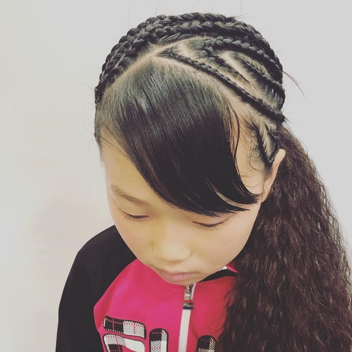 top braided hairstyles with bangs for girls