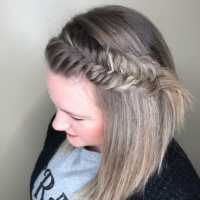 fishtail braid hairstyle for fat girls
