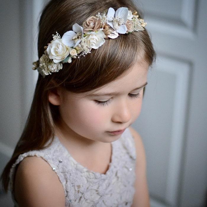 flower girl with long hair