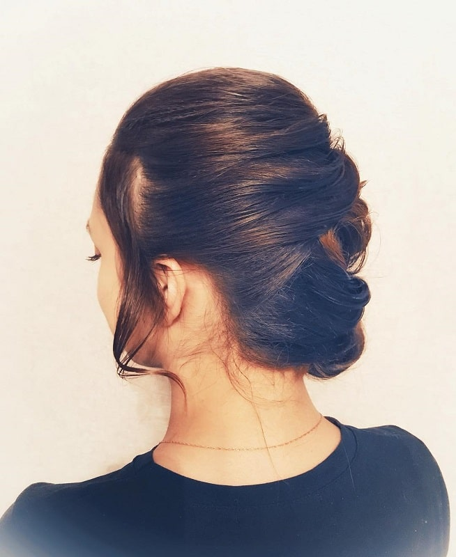 girl with updo hairstyle