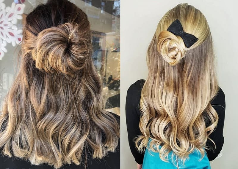 half updo hairstyles for girls