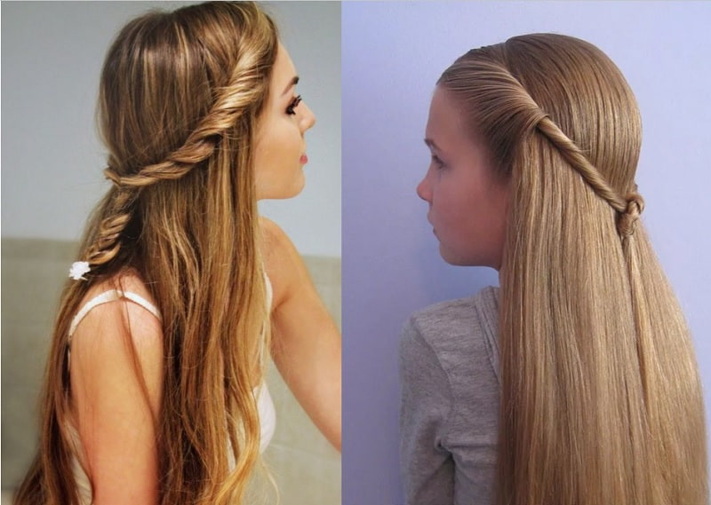 crown twist hairstyles for girls