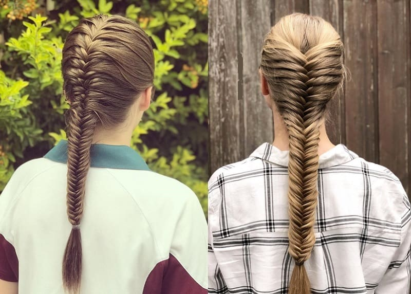 fishtail braid hairstyles for girls