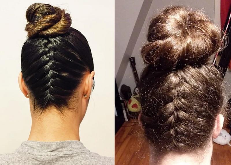 high bun hairstyles for girls