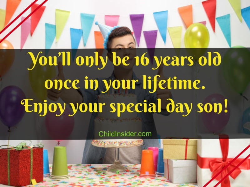 16th birthday wishes for son