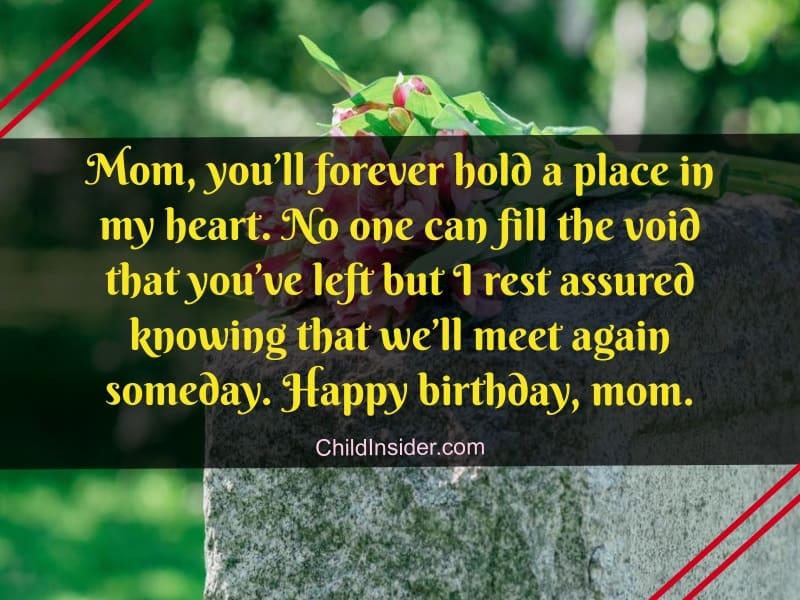 birthday in heaven mom