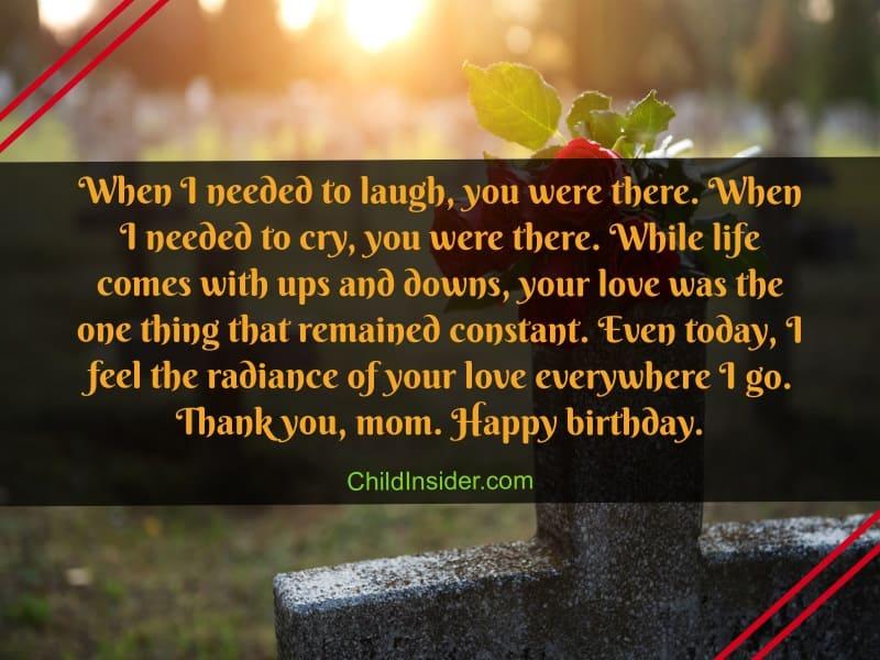 heartfelt happy birthday mom in heaven quotes