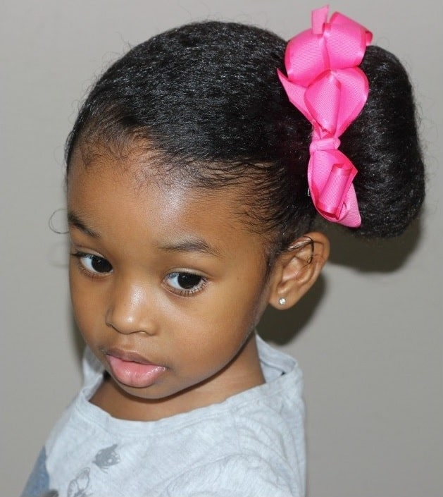 one sided bun for little black girls