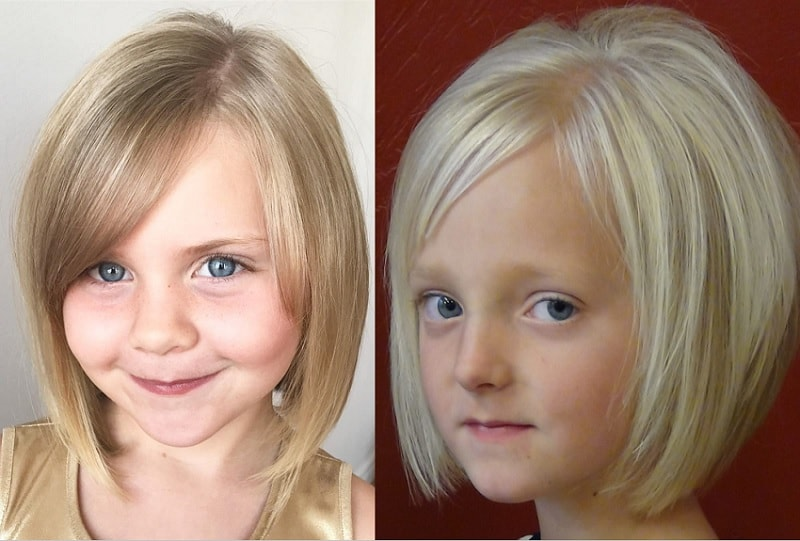 layered bob for little girls