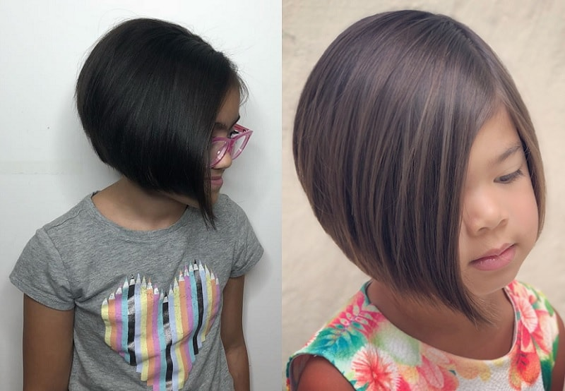 Little Girl with Round Angled Bob
