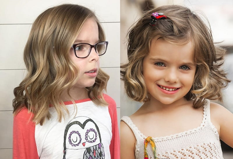 wavy bob haircut for little girls