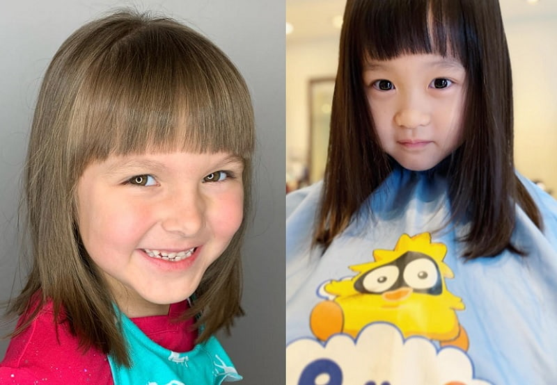 little girl long bob haircut
