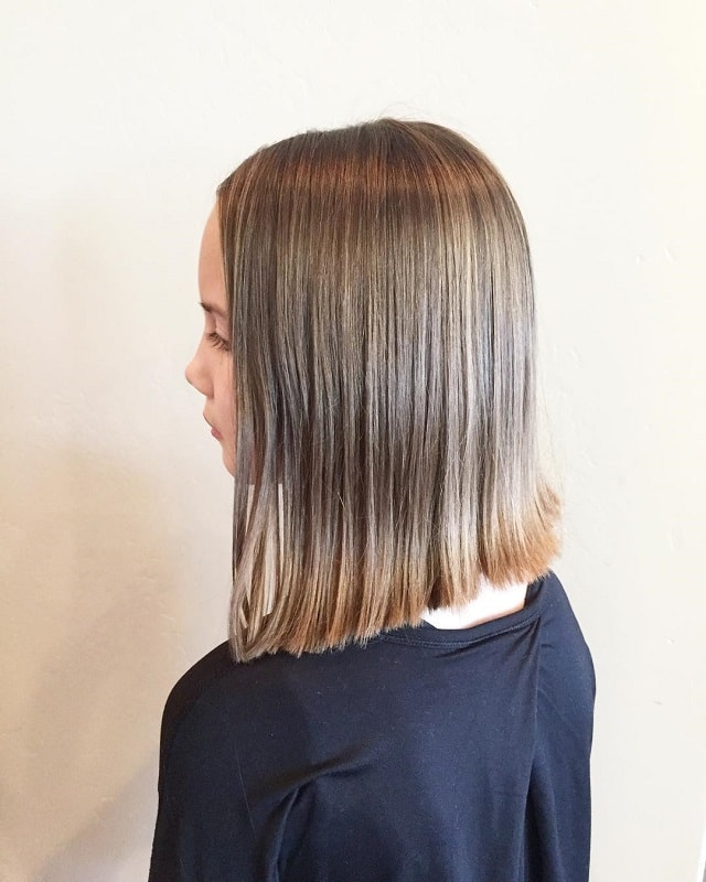 straight long bob for little girls