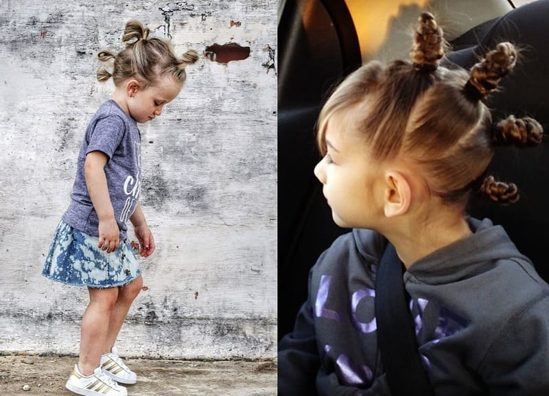 mohawk buns for little girls