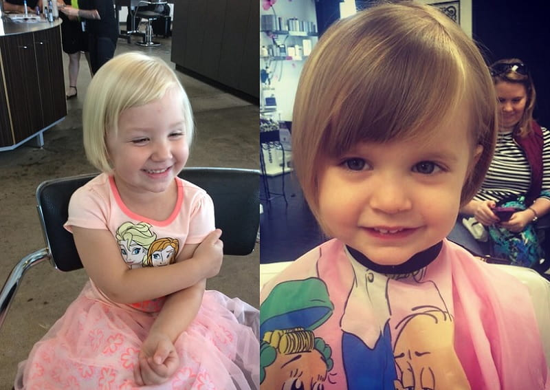 little girls with short haircuts
