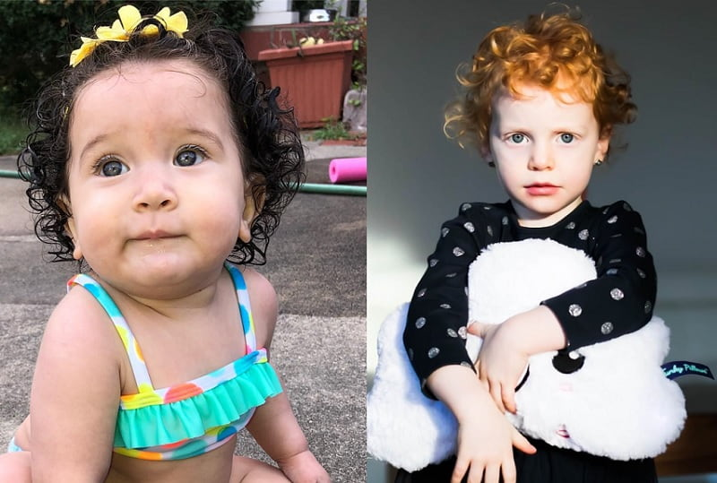 little girl's short curly hairstyles