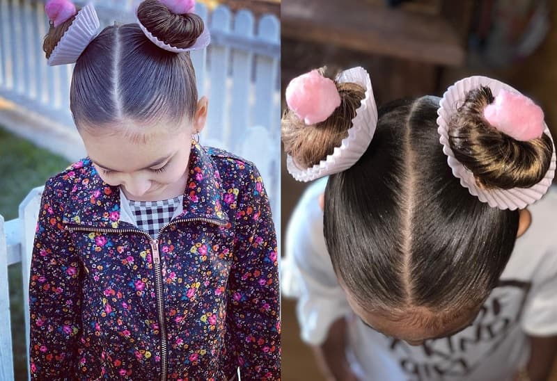 cupcake bun styles for little girls