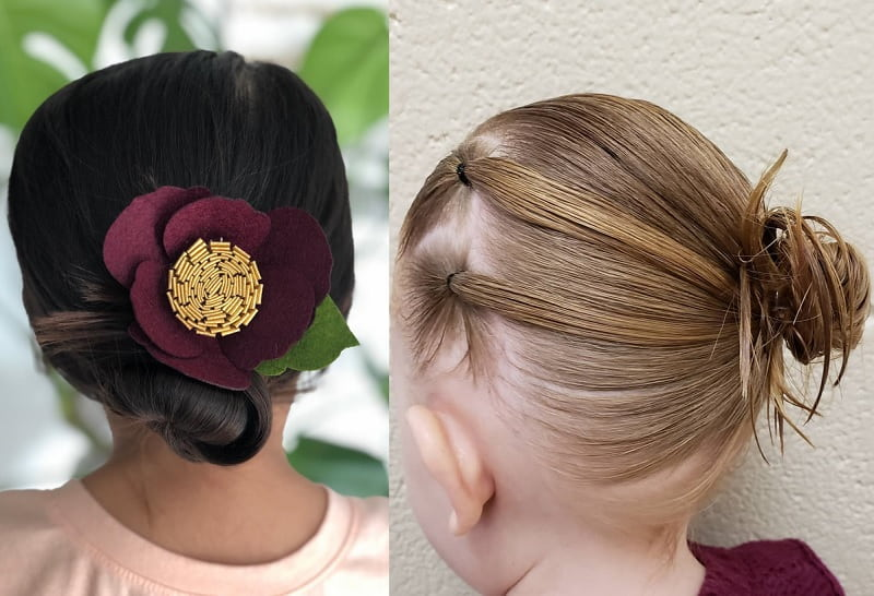 side bun hairstyles for little girls