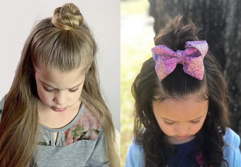 topknot hairstyles for little girls