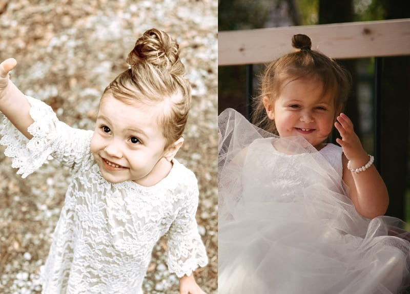 bun hairstyles for little girls