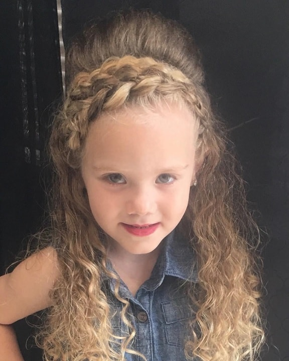 face framing double braided hairstyles for little girls