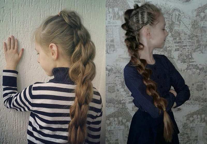 pull through braid styles for little girls